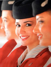 flight attendants females only in jordan