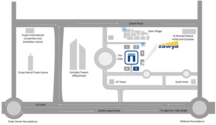 Our Location Dubai DIFC map