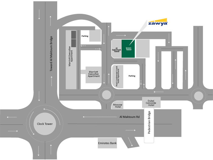 Our Location dubai Green Tower map
